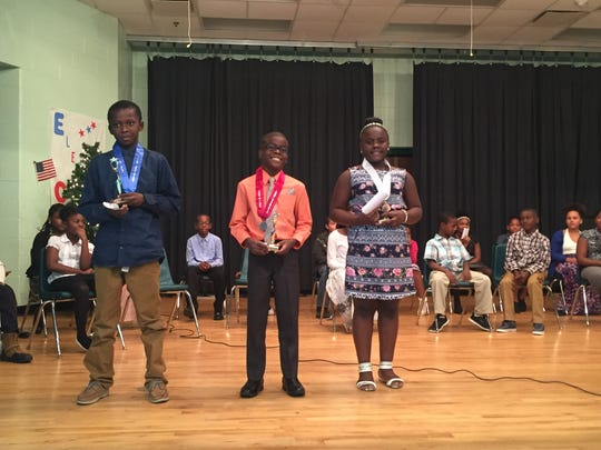 The top students competing in the 4H/Tropicana Speech