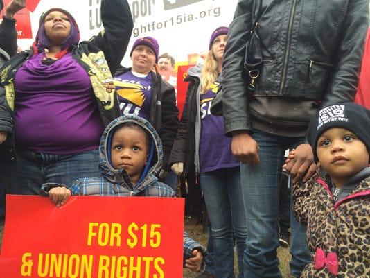 Children Fight for 15 protest