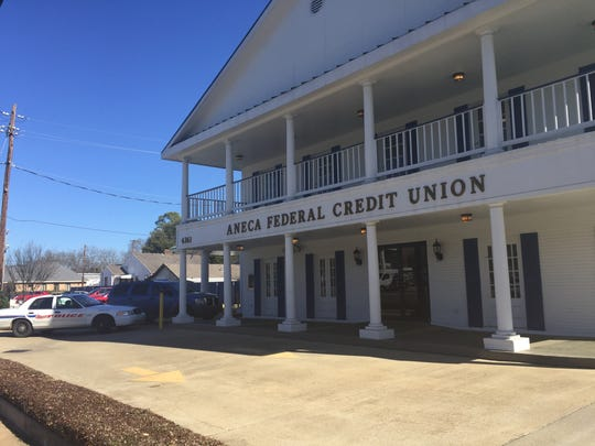 Police were called to Aneca Federal Credit Union this