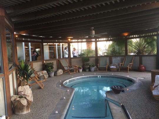 A mineral pool at The Spring Resort and Spa in Desert Hot Springs.