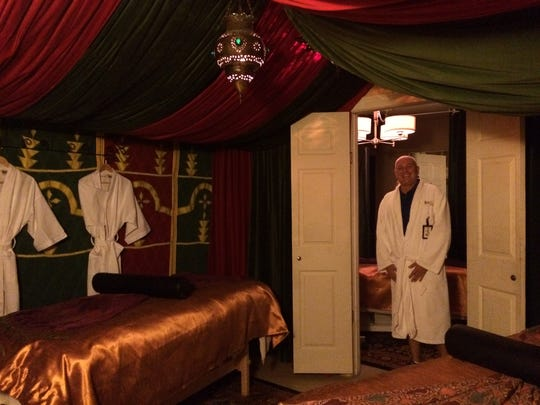 One of the spa treatment rooms at El Morocco Inn and Spa in Desert Hot Springs.