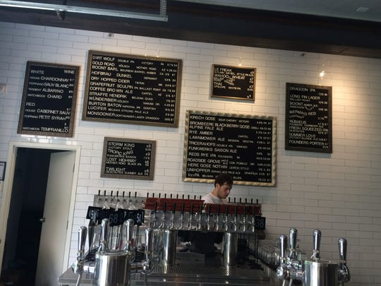 The beer garden behind Reilly Craft Pizza and Drink in Tucson offers a large variety of local and national craft brews. The beerista will be happy to assemble a custom flight based on your tastes.