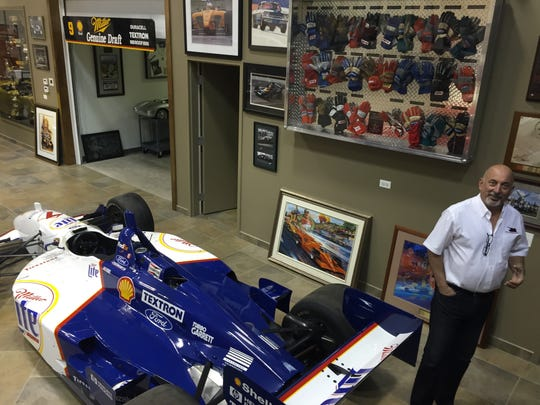 Former Indy 500 winner Bobby Rahal in his man cave in Joliet, Ill.