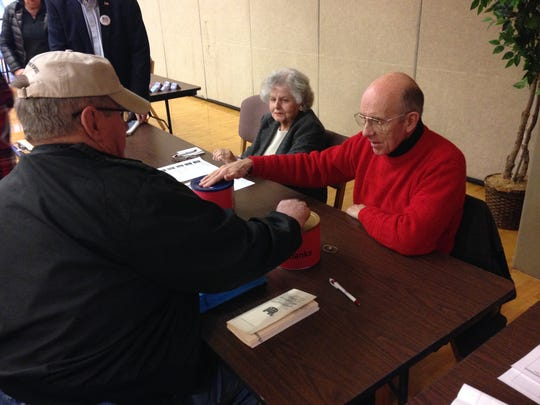 Republicans voted in a GOP straw poll at DSU on Jan. 30.