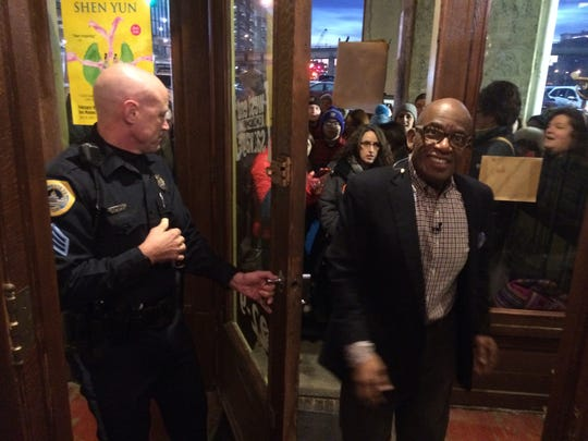 "Al Roker stepped outside to greet some 100 fans during the filming for the ""Today"" show at West End Architectural Salvage."