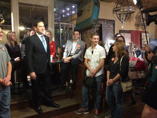 "Marco Rubio made a quick visit to the ""Today"" show at West End Architectural Salvage."