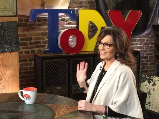 "Former Alaska Gov. Sarah Palin stopped by for an interview during the ""Today"" show at West End Architectural Salvage."