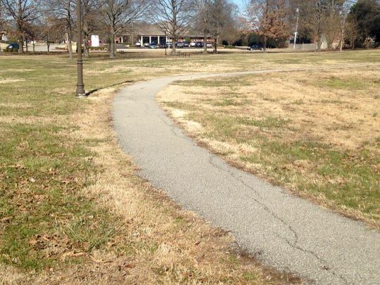 The trail at Liberty Park is narrow and could be widened if the council approves the $25,020 to complete the grant.