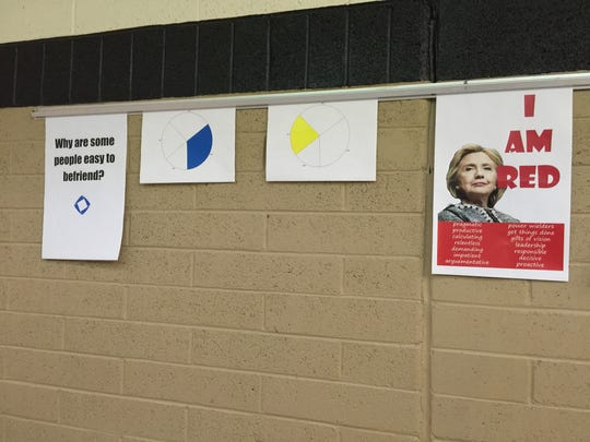 Several displays promoting the Color Code Campaign at Pine View High School.