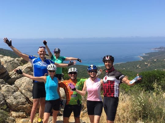 Cyclists travel 11 days during the Mediterranean Island