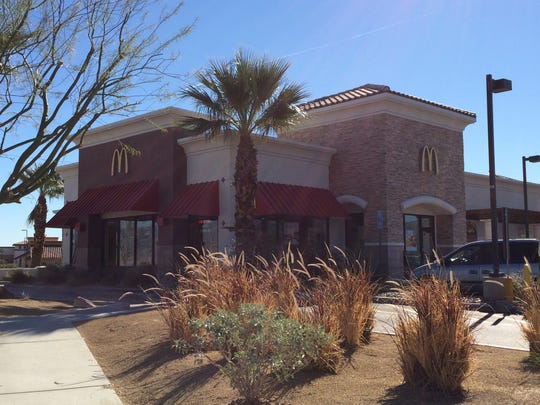 This Desert Sun file photo shows a local McDonald's restaurant. Customers can get free bacon with any order from 4 to 5 p.m. today at any Coachella Valley location.