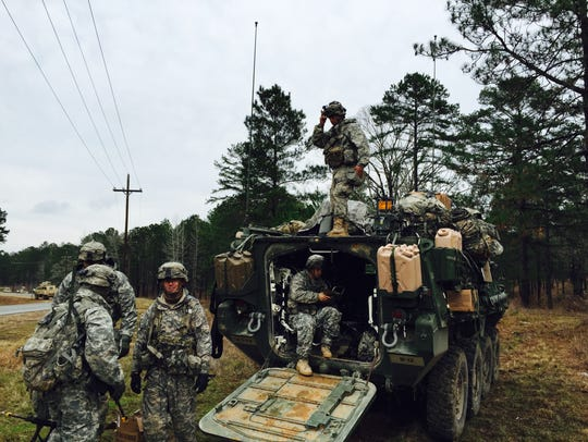 Soldiers from Bravo Company, 3rd Battalion, 41st Infantry