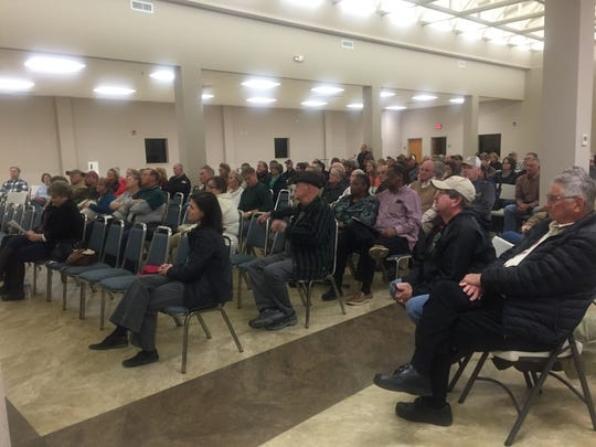 About 150 residents showed up Thursday night for a