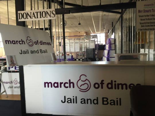 The March of Dimes Jail and Bail is Saturday.
