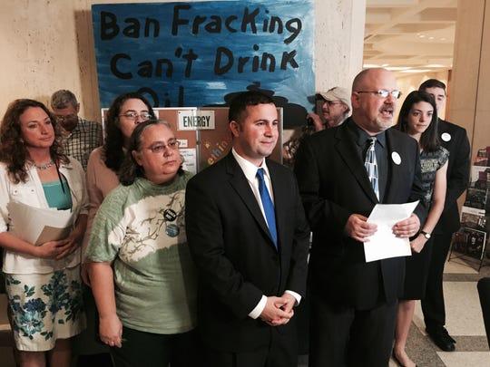 Sen. Darren Soto, D-Orlando, joined anti-fracking activists