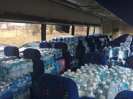 Faith Temple Church, with help from other area groups and individuals, collected nearly 1,500 cases of bottled water for Flint, Mich.