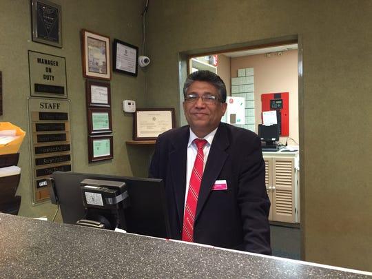 Daniel Abraham Chekottu, the night clerk at the hotel,