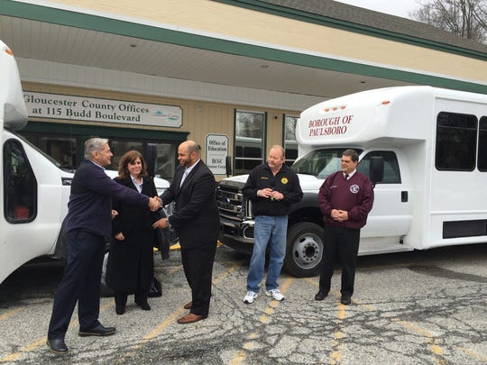 Mantua and Paulsboro received new buses for senior and disabled residents.