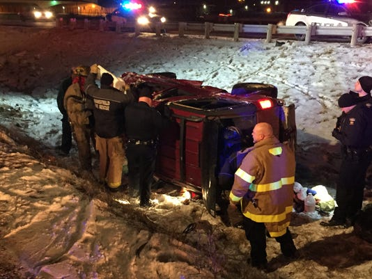 Rollover crash on U.S. 30