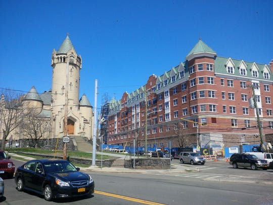 The Castle, a 120-unit luxury rental apartment complex in Port Chester, will be ready for occupancy by the end of February.