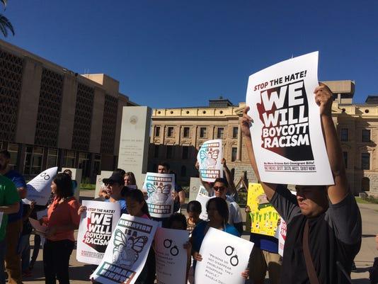 Senate Bill 1017 protest