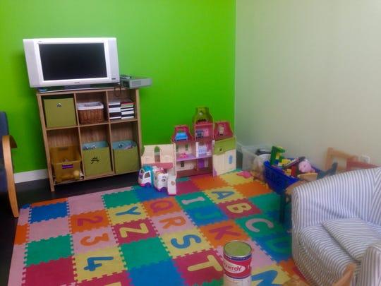 The Dailey Method offers baby-sitting services in its play room.