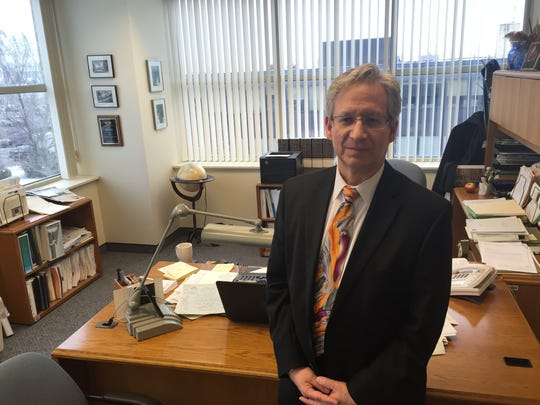County Administrator Bill Kauffman in his office on Tuesday, Feb. 16, 2016. Kauffman, who's worked for the county for 26 years and five as administrator, announced his retirement, effective June 1.