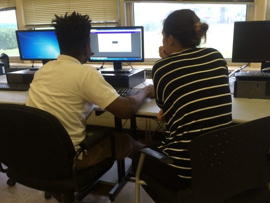 Together, CPA and FSU students work on classwork and prepare for college entrance exams.