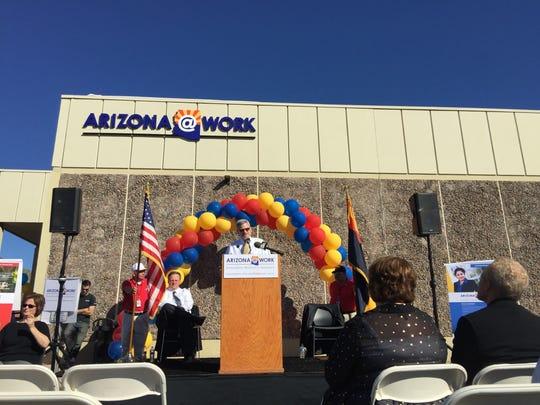 Arizona@Work is the new identity of Arizona's workforce development program. Tim Jeffries, director of the Department of Economic Security, introduced the new identity Feb. 17, 2016.