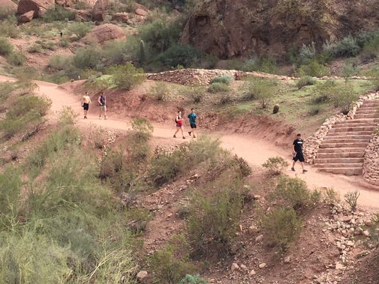 Hikers on Echo Trail,