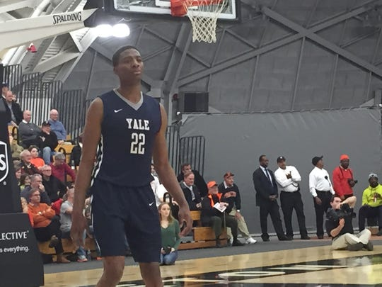 It was a homecoming for Yale's Justin Sears, a former Plainfield High School star.