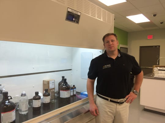 David Cunic at one of his medical-cannabis testing