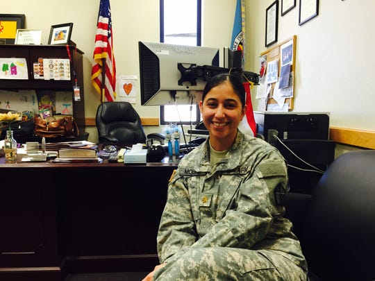Maj. Jeannette M. Molina is the commanding officer for the El Paso Military Entrance Processing Station or MEPS.