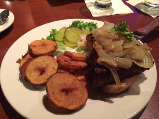 Sirloin steak sandwich with cottage fries at Chef's Kitchen.