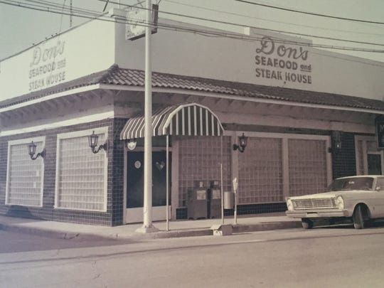 This 1940s or 1950s photo shows the second of three main entrances Don's Seafood and Steakhouse has had through the years.