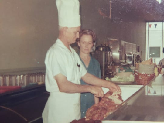 This 1967 photo of Michael and Yuline Dwyer was taken shortly after changing the restaurant name from Mrs. Pop Stinson's to Dywer's Cafe.