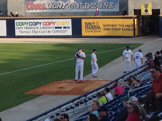The seats at Blue Wahoos Stadium are only a few feet