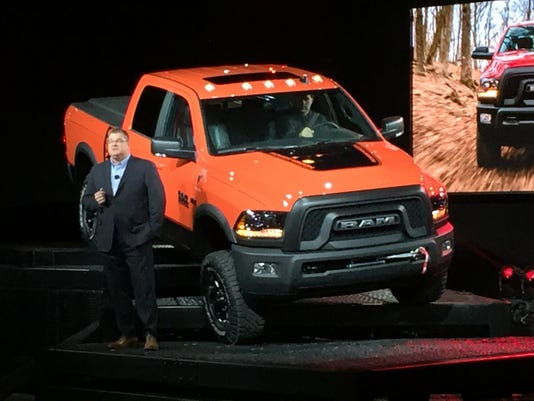 Ram CEO Bob Hegbloom at the Chicago Auto Show