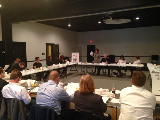Community leaders gathered at theCO Wednesday to discuss ways to keep young talent in Jackson.