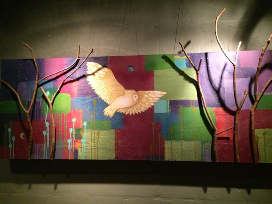 One of the works currently on display at Saldivar's