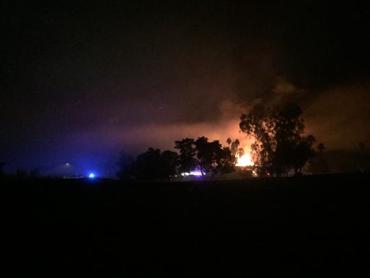A fire extensively damaged the clubhouse at the closed