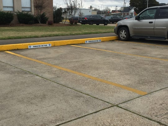 The Monroe Police Department maintains two parking spots designated as Transaction Safe Places.