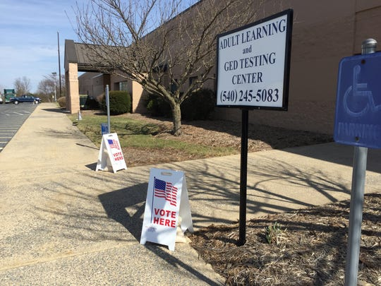 Voting officials have been busy at the Wilson polling place in Fishersville.