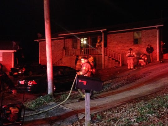 A man suffered second-degree burns to his face and chest in a fire at a duplex on Rossfield Cove late Tuesday night, according to the Jackson Fire Department.