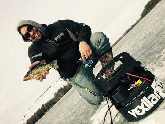 Crappies are sitting in deeper basins