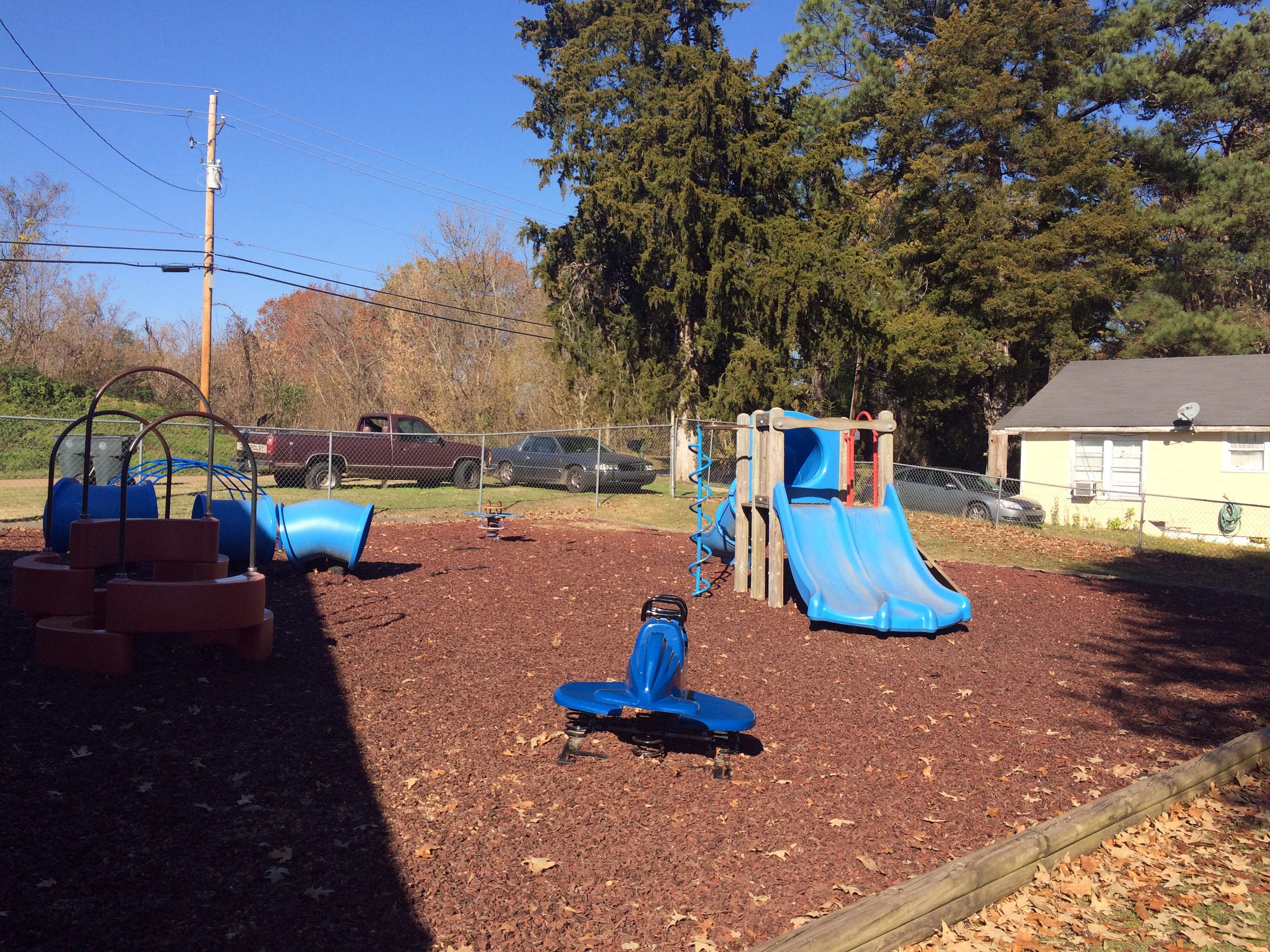 Child care center owners say playgrounds, like this one at a daycare in Vicksburg, can cost thousands of dollars.