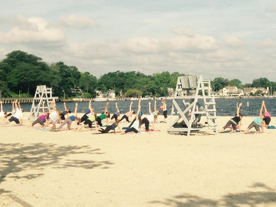 Yoga on the beach helped Beachwood become one of two