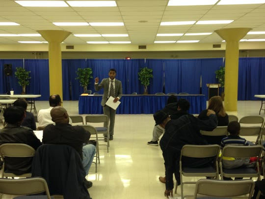 Tracy Boyd, seen here in this 2016 photo, leads a meeting discussing issues in Jackson at T.R. White Sportsplex.