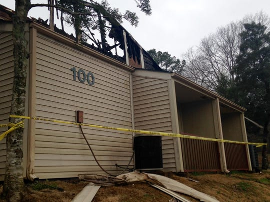 Royal Arms Apartment building 100 was destroyed overnight Thursday by a fire.