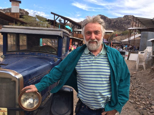 Ken Coughlin designed and built the Desert Bar, which has been an ongoing project for more than 30 years.